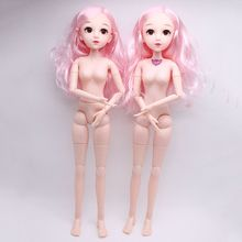 Toy Dress-Up-Doll 23-Joint-Doll Nude-Body Makeup 4d-Eyes Girls Princess Fashion