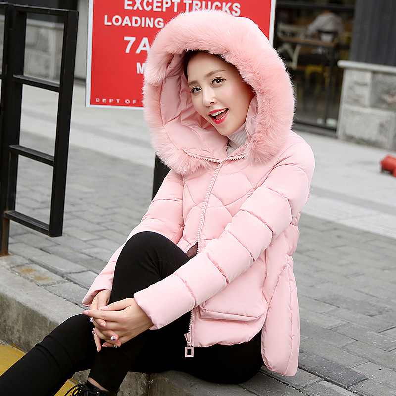 Winter Jacket Women Short   Parka   Down Cotton Coat Women Manteau Femme Hiver Thicken Outerwear Hooded White Winter Coat