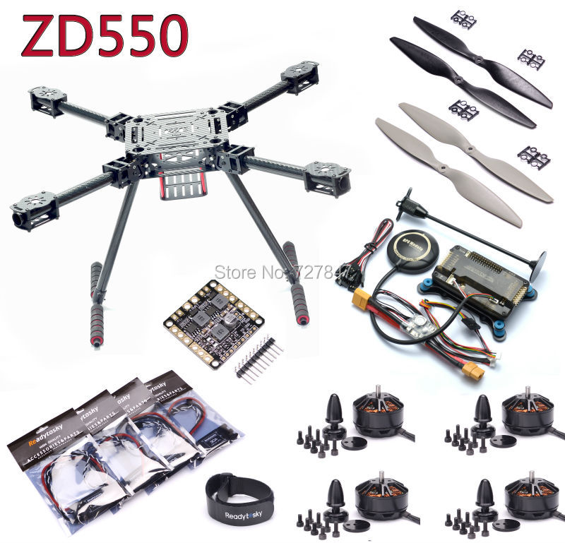 Upgrade F550 ZD550 550mm Carbon fiber Quadcopter Frame APM2.8 8N GPS 3508 580KV motor 40A OPTO 2-6S Brushless ESC f450 multi copter quadcopter rack kit apm2 8 8n m8n gps 2312 920kv motor readytosky 40a opto esc super combo