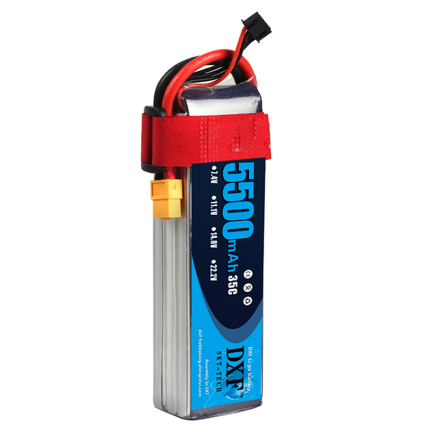 2018 DXF Lipo Battery 22.2V 5500MAH 35C 6S MAX 60C T/XT60 RC Battery For Rc Helicopter Car Boat drone truck quadcopter Traxx