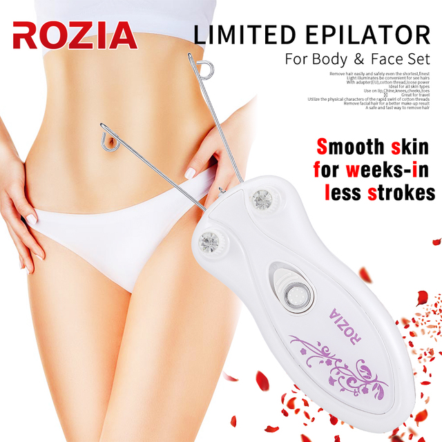 Elektrikli Epilatör Vücut Yüz Saç Çıkarıcı Defeatherer pamuk ipliği Epilatör Tıraş Makinesi Lady Güzellik Bakım Makinesi Kadınlar Için