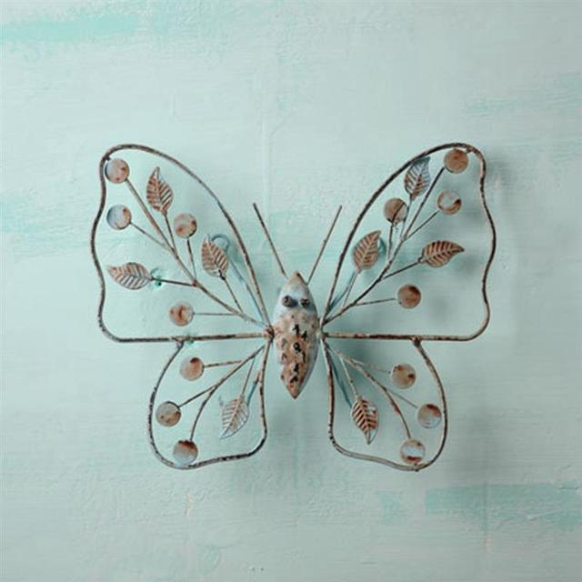 New Vintage Metal Craft Wire Iron Butterfly Wall Hanging Model ...