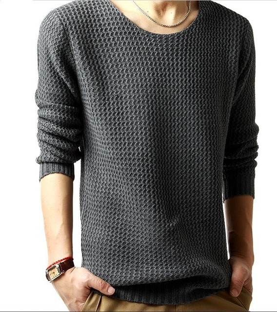 7e5b61b2a0811e Hot Sale Cheap Men Sweaters Gray O-neck Sweater Men Leisure Thin Large Size Mens  Jumpers