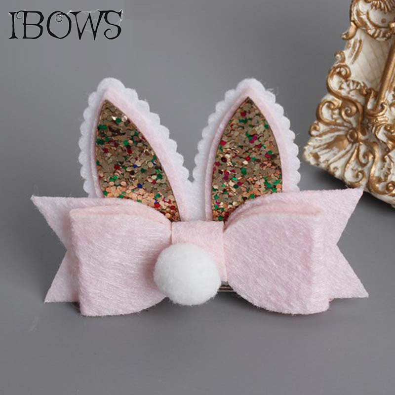 Boutique Cartoon Double Rabbit Ears Kids Hairpins Children Headwear Baby Hair Clip Princess Barrette Girls Hair Accessories baby cute style children accessories hairpins rabbit fur ear kids girls barrette lovely hair clip