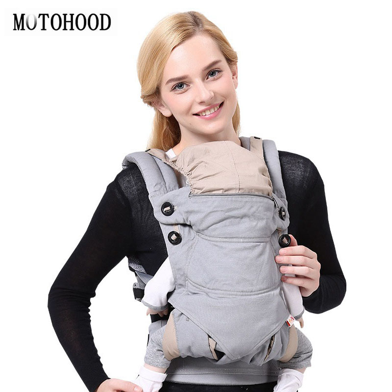 MOTOHOOD Ergonomics Baby Carrier Sling Portable Child Backpacks Thickening Shoulders 360 Ergonomic Hoodie Kangaroo