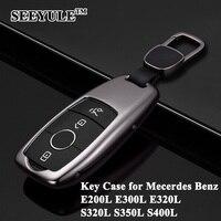 1 adet SEEYULE Styling Anahtar Kabuk Araba Anahtarı Durum Kapak Depolama çanta Koruyucu için Mercedes Benz E200L E300L E320L S320L S350L S400L