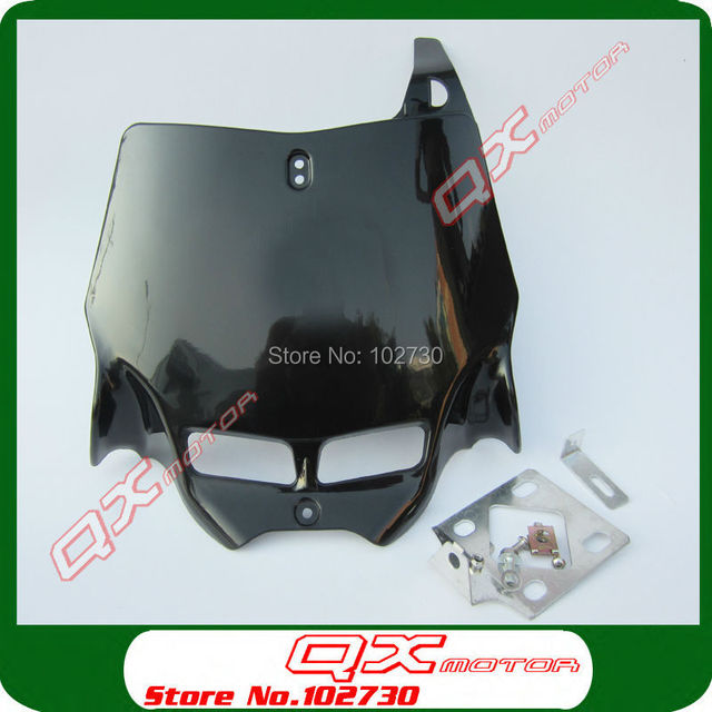 Universal Dirt Bike MX Motocross refitting front Number Plate Plastic Cover for CR CRF YZ YZF  sc 1 st  AliExpress.com & Universal Dirt Bike MX Motocross refitting front Number Plate ...