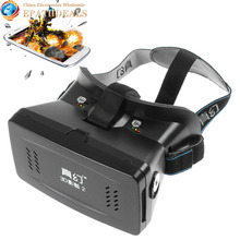RITECH II Head Mount Plastic Version Google Cardboard Magnet VR IMAX 3D Glasses Cardboard Movies Games for 3.5-6 Smart phone