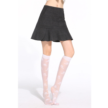 10 pairs/pack Hot Silk Jacquard Knee High Socks 40D Elastic Ultra-thin Transparent Nylon Half Stocking( can mix two colors)