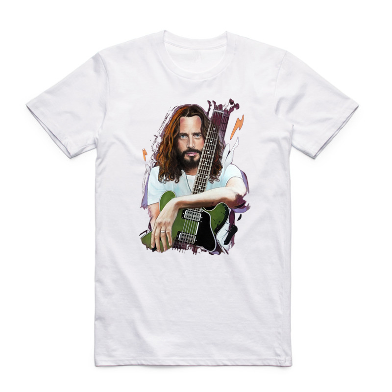 Asian Size Printing Chris Cornell T-shirt Summer Casual O-Neck Short Sleeve Fashion Music Tshirt HCP4383