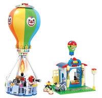 [Funny] DIY 275pcs Clown Hot air balloon city modern paradise + figures Building blocks toy model kids assemble education toys