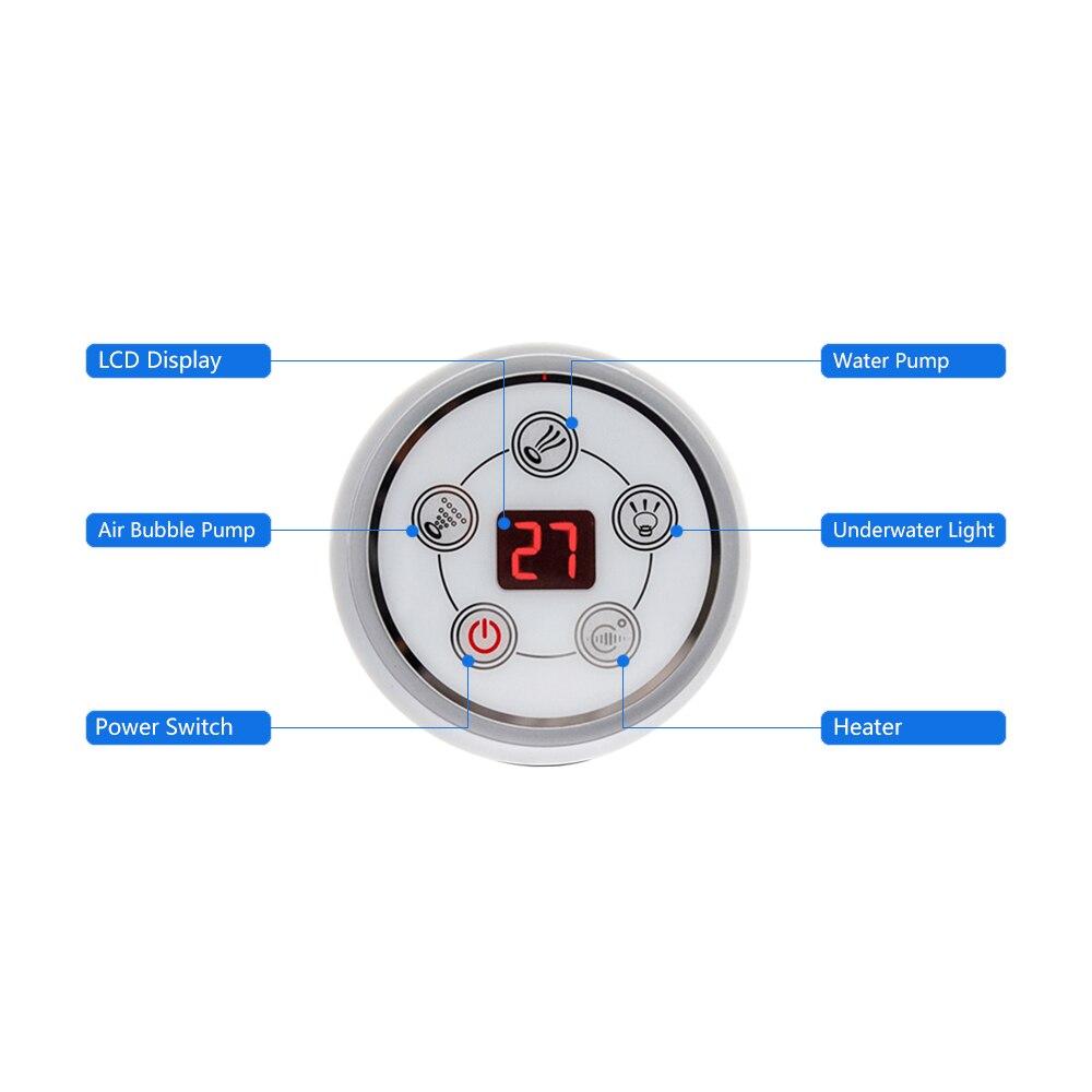 Painel de controle digital redondo da c.a. 110 v/220 v com tela lcd ce certificado spa combinação massagem água banheira controlador kits-1