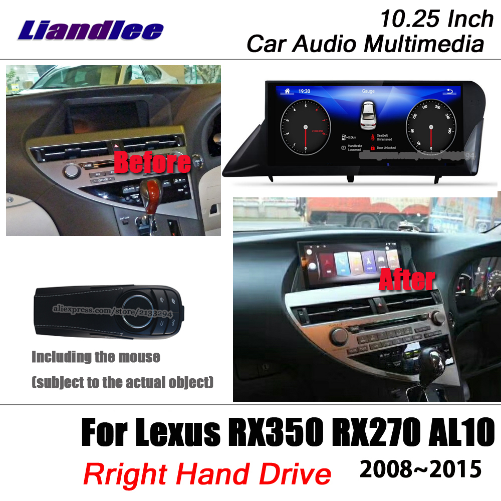 Liandlee 10 25 Android For Lexus RX350 RX270 Right Hand Drive 2008 2015 With Mouse Carplay