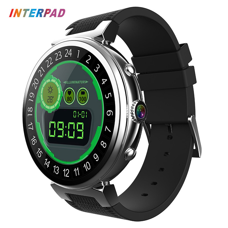 2017 Interpad 2 GB RAM 16 GB ROM montre intelligente Android 5.1 OS MTK6580 Quad Core 1.3 GHz Smartwatch Support 3G SIM GPS WIFI caméra