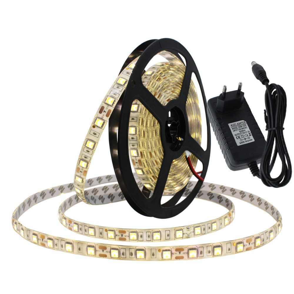 Contrôleur Bluetooth RGBW LED bande ensemble 12V LED bande 5050 5m 60 LED/m + contrôleur Bluetooth + adaptateur secteur