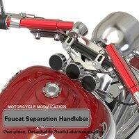 Motorcycle Parts Fit for 22mm CNC Aluminium Alloy Modification Strengthen Crossbar MAX 70CM 5 Color Faucet Separation Handlebar