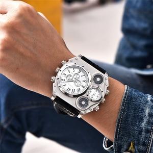 Image 4 - Oulm 1349 New Sport Watches Men Super Big Large Dial Male Quartz Clock Decorative Compass Luxury Mens Wrist Watch