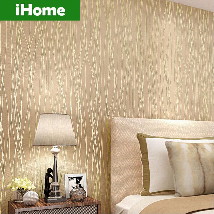 Modern stripe wallpaper 3d wall mural plant bedding room - Papel de pared moderno ...