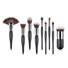 9PCS MakeUp Brushes Set special design handle for Foundation Concealer Highlighter Powder Blusher Eyeshadow T09015 makeup brushes set powder foundation blusher highlighter bronzer concealer sculpting eyeshadow liner beauty cosmetic brush kits