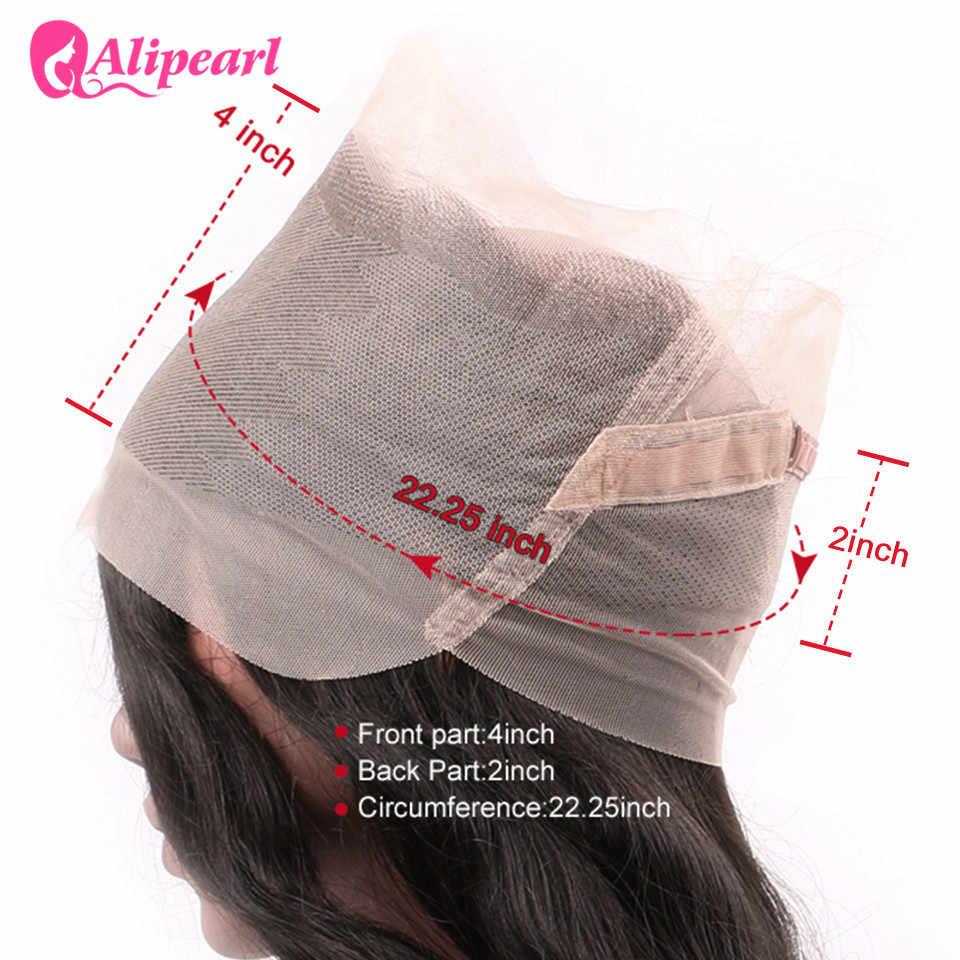 Волосы alipearl предварительно сорванные 360 Кружева Фронтальная Закрытие с волосами младенца бразильские прямые натуральные волосы remy фронтальные волосы
