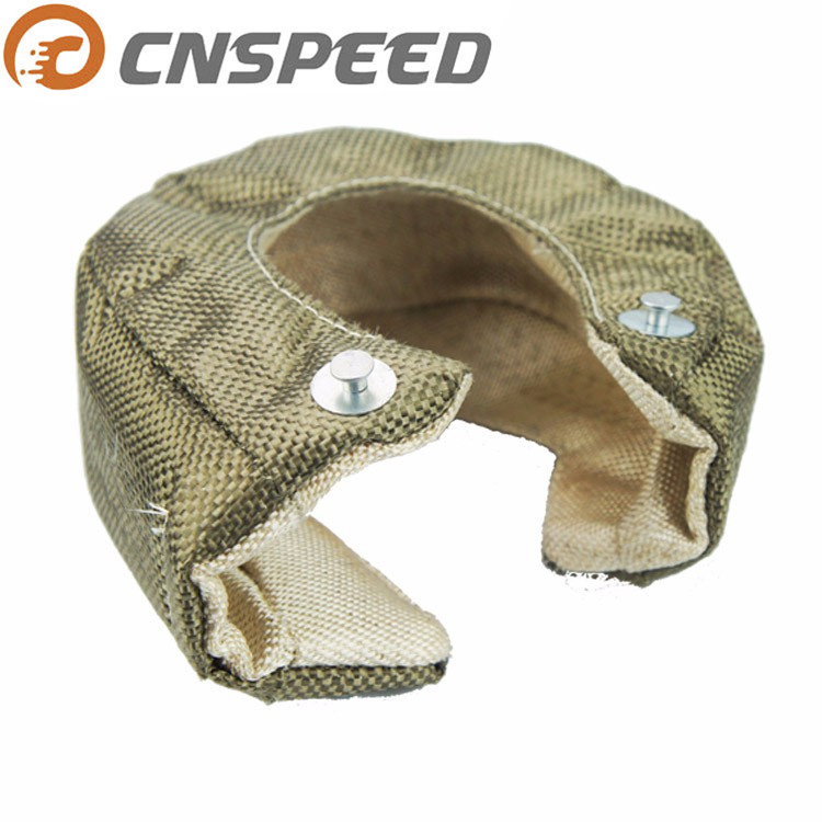 CNSPEED RACING NEW Titanium <font><b>T3</b></font> <font><b>Turbo</b></font> <font><b>Blanket</b></font> heat shield barrier 1800 degree temp rating <font><b>T3</b></font> <font><b>Turbo</b></font> <font><b>Blanket</b></font> Cover YC100468-TI image
