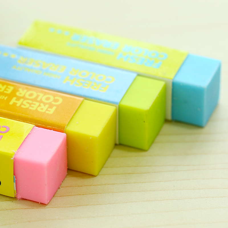 36 pcs lot macaron color eraser pvc 4b colored eraser stationery