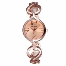 Accesorios de Moda WEIQIN Reloj de Señoras Relojes de Las Mujeres Aleación de Oro Banda Reloj de Cuarzo Reloj de Pulsera Mujer Reloj montre femme