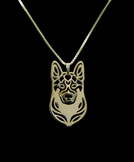 Unique Handmade Boho Chic German Shepherd Necklace Female and Male Gift Jewelry Necklace--12pcs/Lot(6 Colors Free Choice)