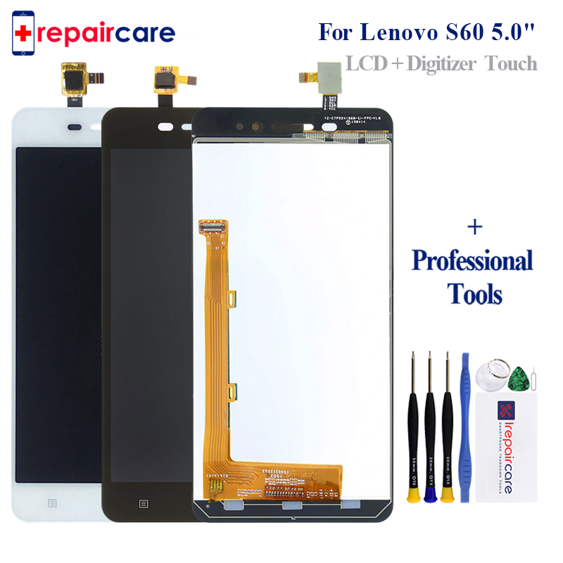 Original 5.0'' Display For Lenovo S60 LCD Touch Screen Digitizer S60W S60T S60A Replace Parts For Lenovo S60 Display image