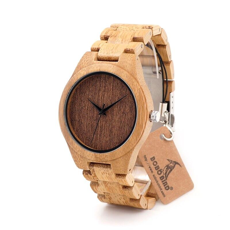 BOBO BIRD Design G29 Bamboo Watch Men Wooden Dial Face Quartz Bamboo Strap Watches as Best Gift for Men Women With Wood Gift Box строительство и ремонт
