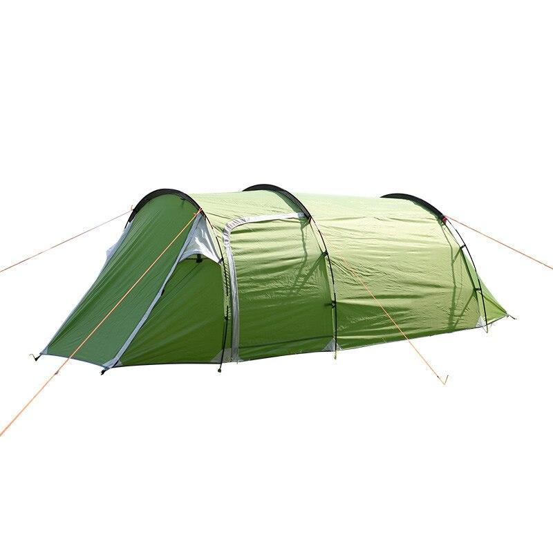 3 personnes Tunnel Tente Étanche 190 t Polyester Camping En Plein Air Randonnée Escalade Grand Espace Une Chambre Une Salle Famille Tente
