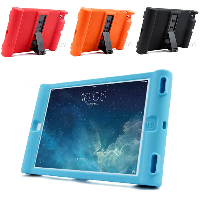 Unique Shockproof Soft Silicone Stand Case For Apple iPad 2 3 4 Protective Drop Proof Cover For Home Children Kids Students цена
