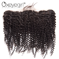 Lace Frontal Brazilian Kinky Curly Hair 13 X4 Ear To Ear Lace Frontal Closure With Baby