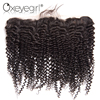 "Lace Frontal Brazilian Kinky Curly Hair 13""x4"" Ear to Ear Lace Frontal Closure With Baby Hair Non Remy Human Hair Oxeye girl"