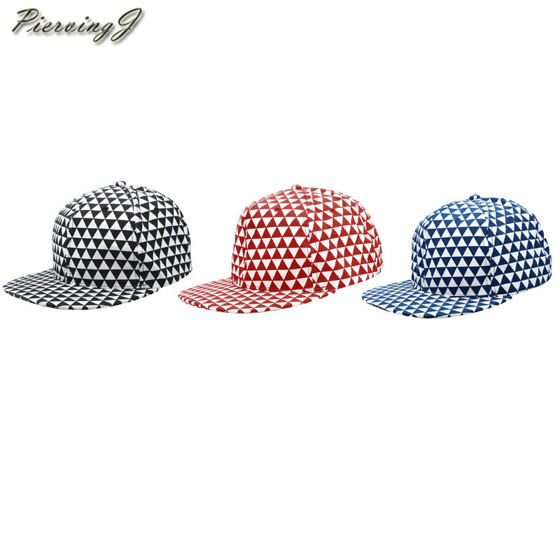 En gros nouveau Style 56-60 cm hommes femmes Vintage 100% coton triangulaire damier plaine Hip-Pop Baseball chapeau 10 pièces