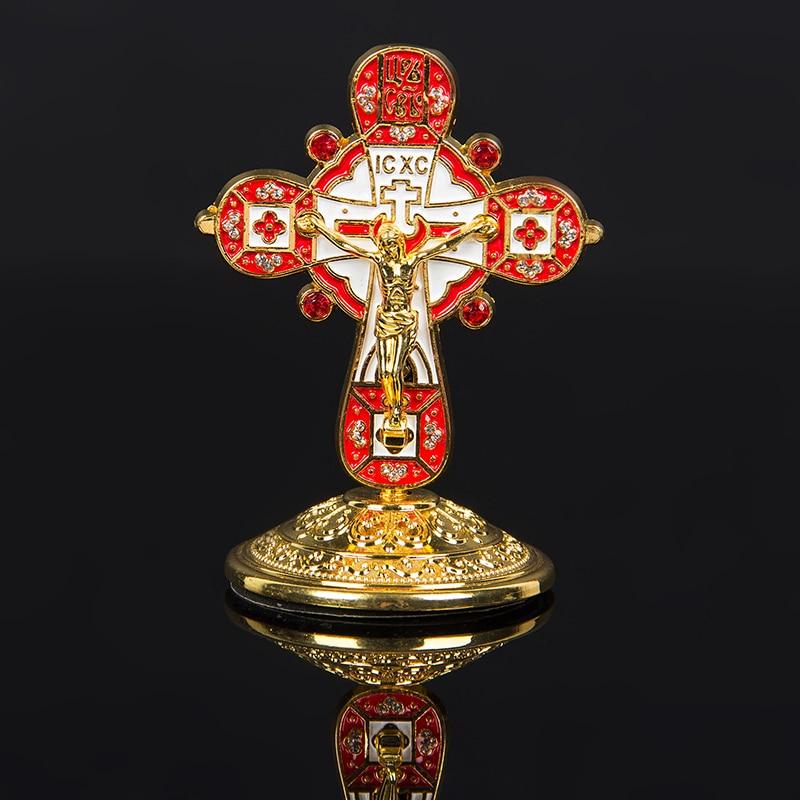 2018 Catholic Crosses And Crucifix Classic Jesus Metal Crafts Religious Cross Greek Orthodox Icon Symbols Christian Baptism Gift