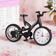 Creative Art Bike Shape Children Kids Bicycle With Alarm Clock Fashion Personality DIY Home Office Kids Toys For Children(China)