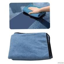 גדול מיקרופייבר ייבוש מגבת רכב ניקוי מטליות בד אוטומטי טיפול 90x60cm כחול רכב לשטוף ערכת תחזוקה