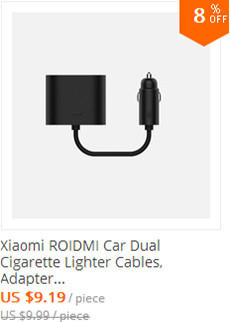 Xiaomi ROIDMI Car Dual Cigarette Lighter Cables, Adapter Splitter 1 to 2 Charging Ports Car Charger for iPhone And Adroid Phones