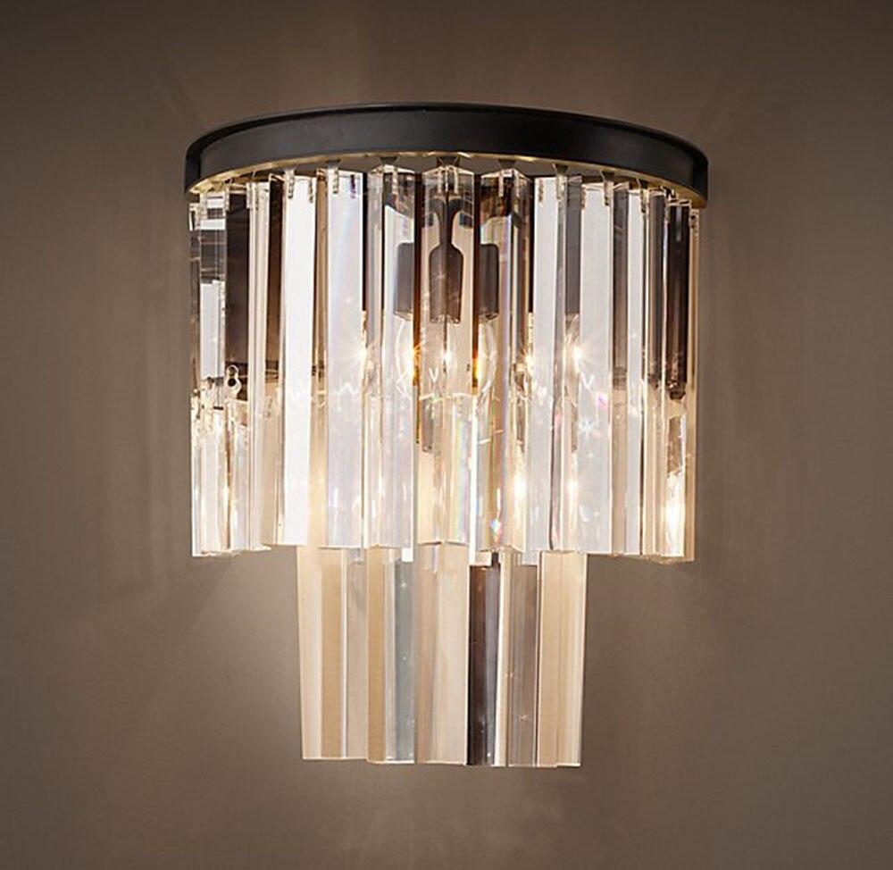 Кантри Стиль Роскошная обувь с украшением в виде кристаллов бра для Гостиная прикроватные Asile крыльцо свет с светодиодный лампы Length30cm