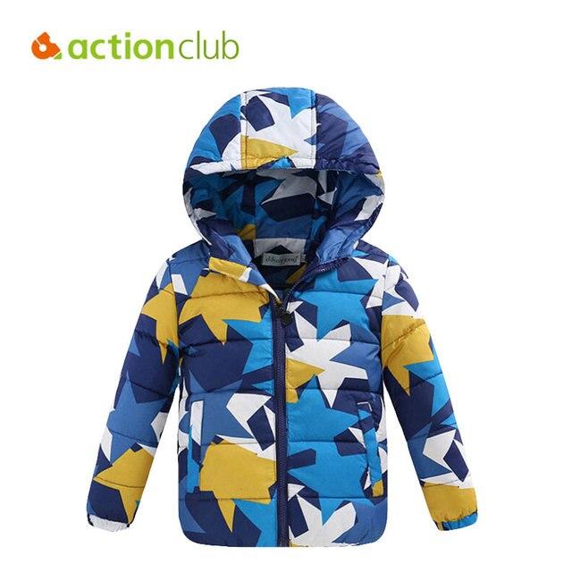 Actionclub Дети Зимнее Пальто Мода Камуфляж Верхняя Одежда Дети Утолщаются Куртка Мальчики Девочки Теплая Одежда Хлопок Парки