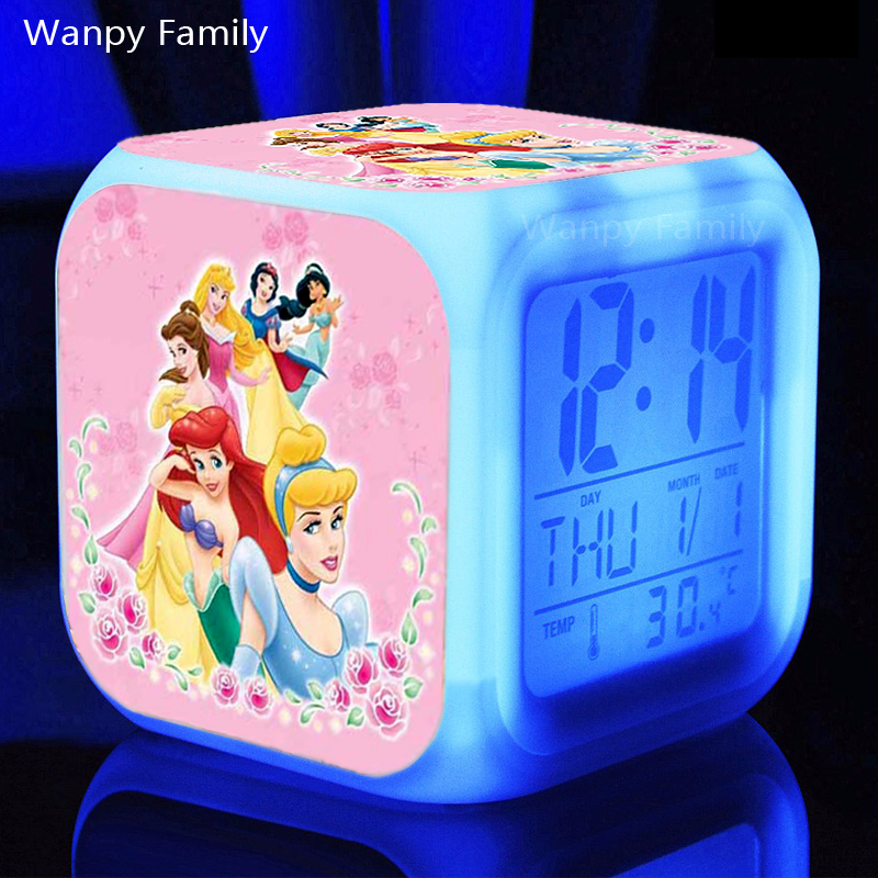 Coloring for Kids kids color changing alarm clock : Beautiful Princess Snow White Alarm Clocks,Glowing LED Color Change ...