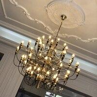 LuKLoy роскошные современные люстры Nordic гостиная Лофт филиал свет лампы для мотоциклов освещение подвесной светильник обеденная спальня