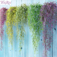 FENGRISE 80cm Artificial Lvy Leaves Wedding Flower Garland Plants Home Party Decorations Garden Wall