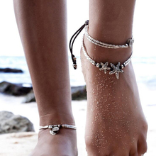 Meyfflin 1pcs Bohemian Coin Anklets Bracelets for Women Barefoot Sandals Foot Jewelry Charms Chain Ankle Bracelet Cheville Femme