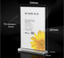 10pcsT type acrylic poster tag list menu holder clear double-sided display desk sign frame KTV hotel restaurant table label rack onlvan led restaurant menu covers a4 size bar list holder covenience to use accept customized order cafe menu list folder
