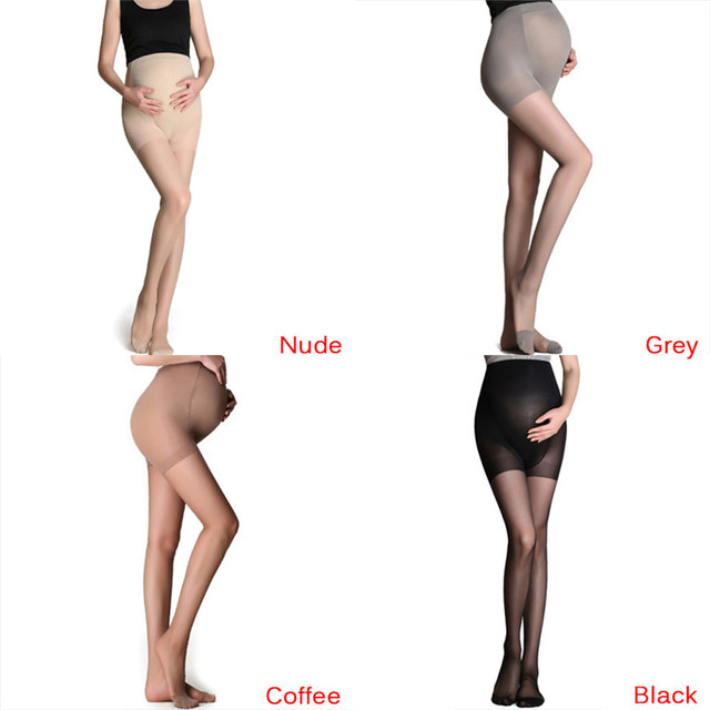 Adjustable High Elastic Leggings ummer Maternity Pregnant Women Pregnancy Pantyhose Ultra ThinTights Stockings 3