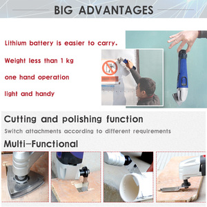 Image 4 - 12V Li ion Oscillating Multi Tool with 2 battery Cordless Power Tools for Home DIY Renovation Tools Electric Trimmer Saw