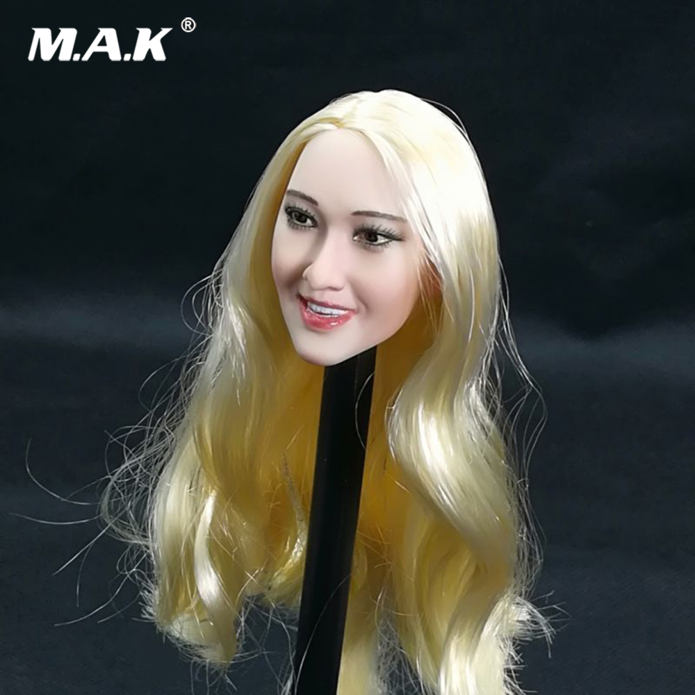 1/6 échelle Figure accessoire femelle tête sculptée US étoile blonde boucles cheveux longs Ivanka Trump tête sculpter modèle pour 1:6 Figure corps