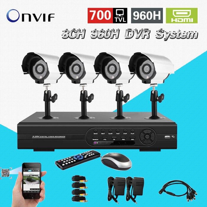 TEATE surveillance 8ch 960h CCTV DVR HVR NVR system for IP 700tvl security font b camera